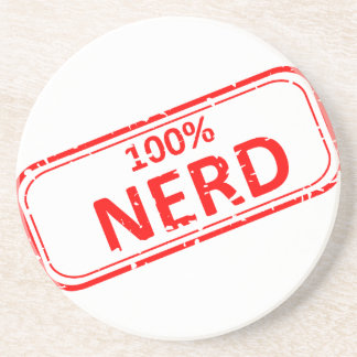 100% Nerd Rubber-stamp Coaster
