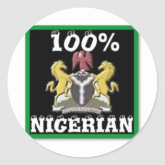 100% Nigeria Gift (Africa) Classic Round Sticker