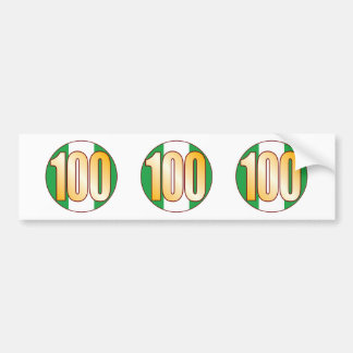 100 NIGERIA Gold Bumper Sticker
