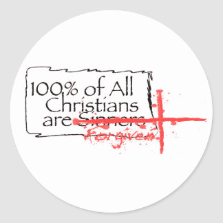 100% of Christians Classic Round Sticker