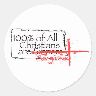 100% of Christians Round Sticker