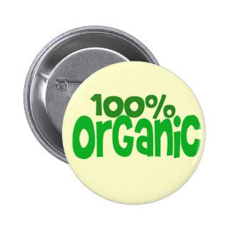 100% organic 2 inch round button