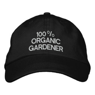 100% Organic Gardener Embroidered Hats