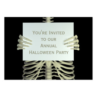 100 Pack Halloween Invitations, Business Card Size