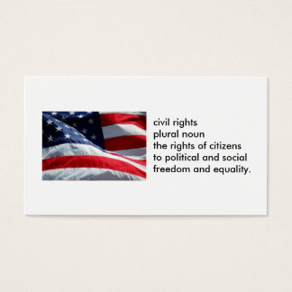 100-pack No on Prop 8 Civil Rights business cards