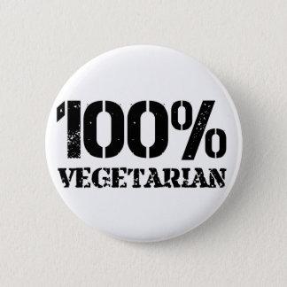 100 Per Cent Vegetarian 2 Inch Round Button