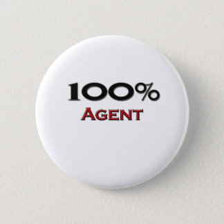 100 Percent Agent 2 Inch Round Button