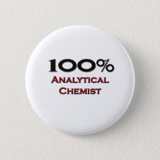 100 Percent Analytical Chemist 2 Inch Round Button