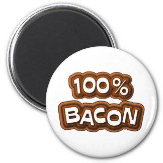 100 Percent Bacon Fridge Magnets