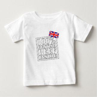 100 Percent British Beef Inside Great Gift Baby T-Shirt