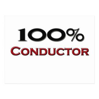 100 Percent Conductor Postcard