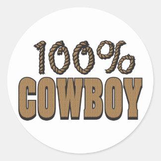 100 Percent Cowboy Sticker