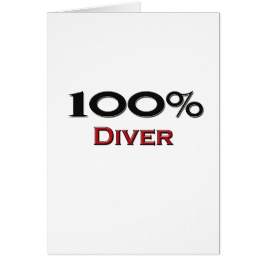 100 Percent Diver Card