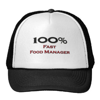 100 Percent Fast Food Manager Trucker Hat