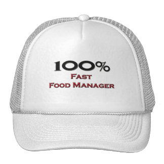 100 Percent Fast Food Manager Mesh Hats