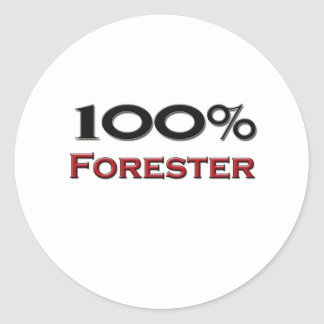 100 Percent Forester Stickers