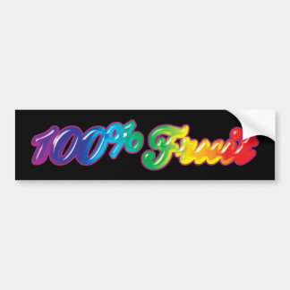 100 Percent Fruit Bumper Sticker