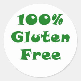100 Percent Gluten Free Classic Round Sticker