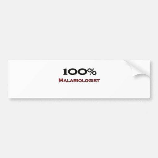 100 Percent Malariologist Bumper Sticker