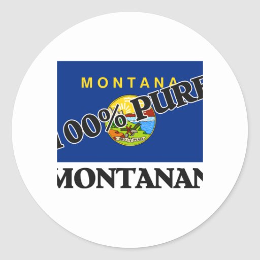 100 Percent Montanan Stickers