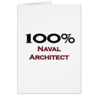 100 Percent Naval Architect Card