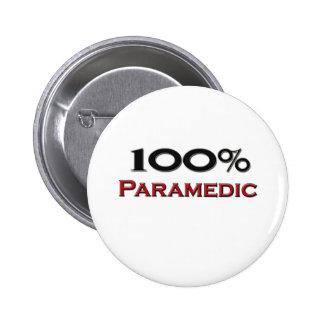 100 Percent Paramedic Pinback Buttons