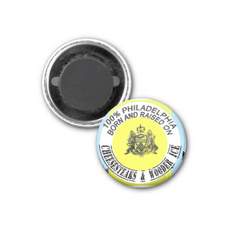 100 percent Philadelphia Born and Raised 1 Inch Round Magnet
