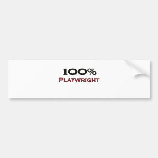 100 Percent Playwright Bumper Stickers