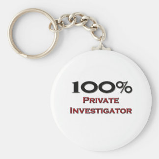 100 Percent Private Investigator Keychain