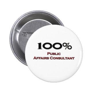 100 Percent Public Affairs Consultant Button