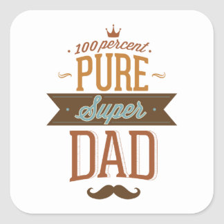 100 Percent Pure Super Dad Square Sticker