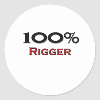 100 Percent Rigger Round Sticker