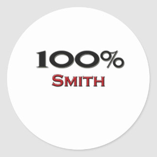 100 Percent Smith Round Sticker