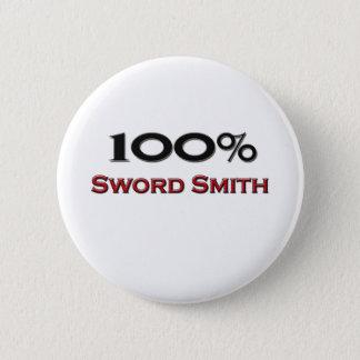 100 Percent Sword Smith 2 Inch Round Button
