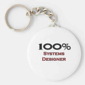 100 Percent Systems Designer Keychain