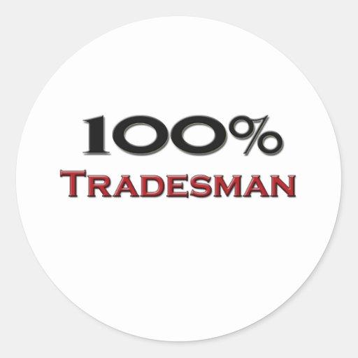 100 Percent Tradesman Stickers