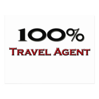 100 Percent Travel Agent Postcard