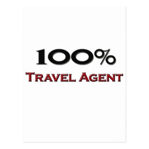 100 Percent Travel Agent Post Cards