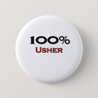 100 Percent Usher 2 Inch Round Button