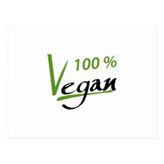 100 Percent Vegan Postcard