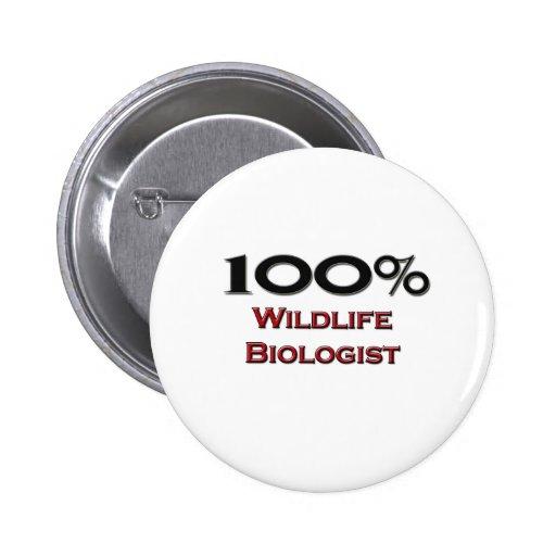 100 Percent Wildlife Biologist Pins