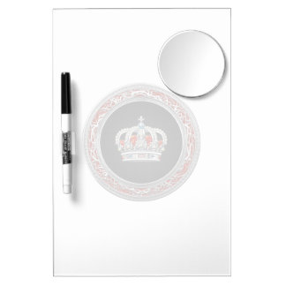 [100] Prince-Princess King-Queen Crown [Silver] Dry Erase Boards