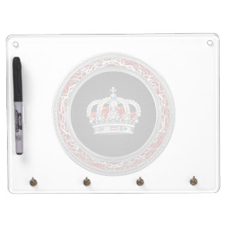 [100] Prince-Princess King-Queen Crown [Silver] Dry-Erase Whiteboards