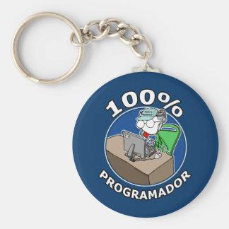100% Programmer Keychain