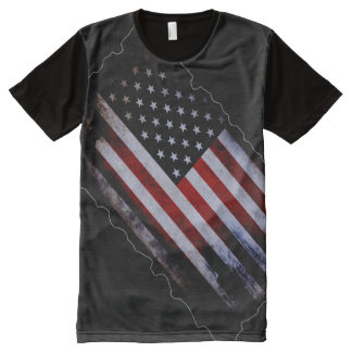 100% Proud American Inside World Flag