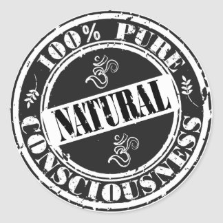 100% Pure Consciousness Round Stickers