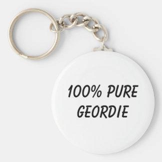 100% Pure Geordie Keychain