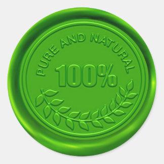 100% Pure & Natural Wax Seal Sticker