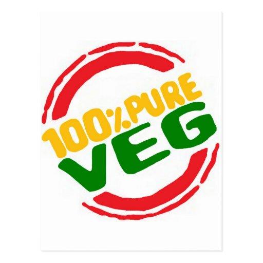 100% Pure Veg Post Card
