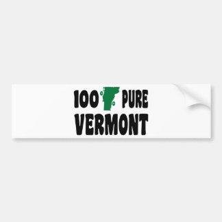 100% Pure Vermont Bumper Sticker